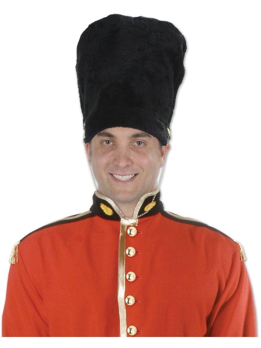 Beistle 60029 Royal Guard Bearskin Hat, Black/Gold