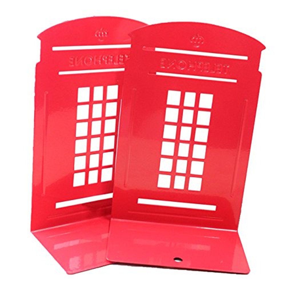 Youkara 1  paio, soggetto: Londra post Office Booth Bookends Bookstall Book Shelf Holder