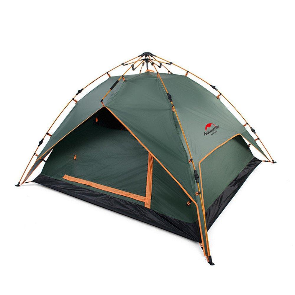 2-4人キャンプテントアウトドアダブルデッカーバックパックテントアウトドアスポーツのための自動インスタントポップアップテント ( ( 色 : 緑 ) 緑 ) 緑 B07C1NG3YJ, 照明と生活雑貨のOCH Living:876865c0 --- ijpba.info