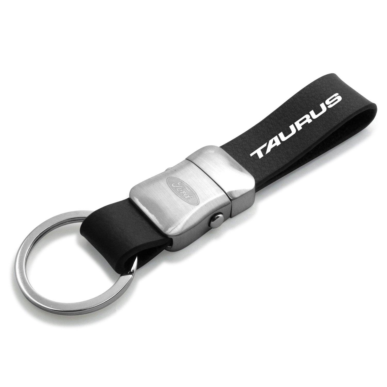 Ford Taurus Genuine Black Leather Strap Detachable Key Chain