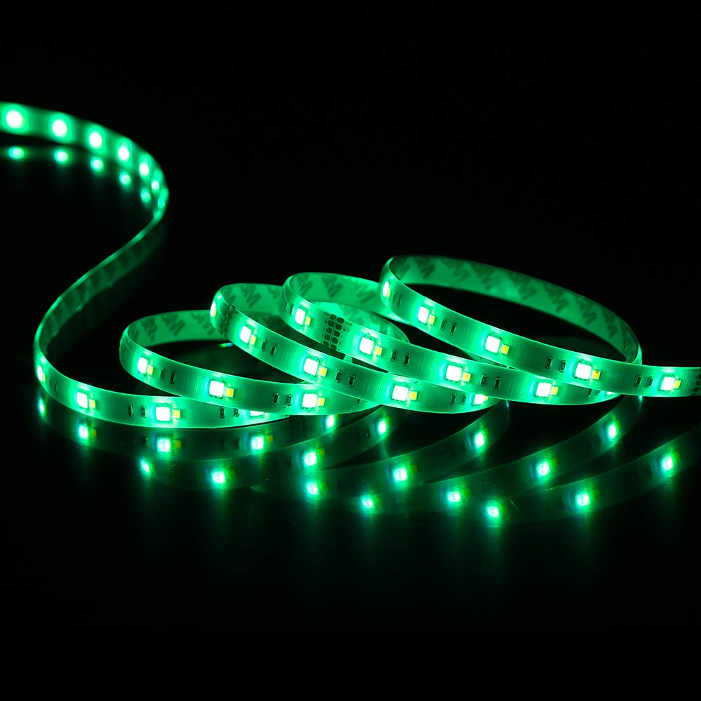 RGBW Smart LED Strip Light Kit, Compatible with Alexa & APP Controlled Waterproof LED Strip, Dimmable, 180LEDs 9.8ft/3m 5050+2835 RGB Color Changing Strip Light, TV Backtlight, Bedroom Lighting
