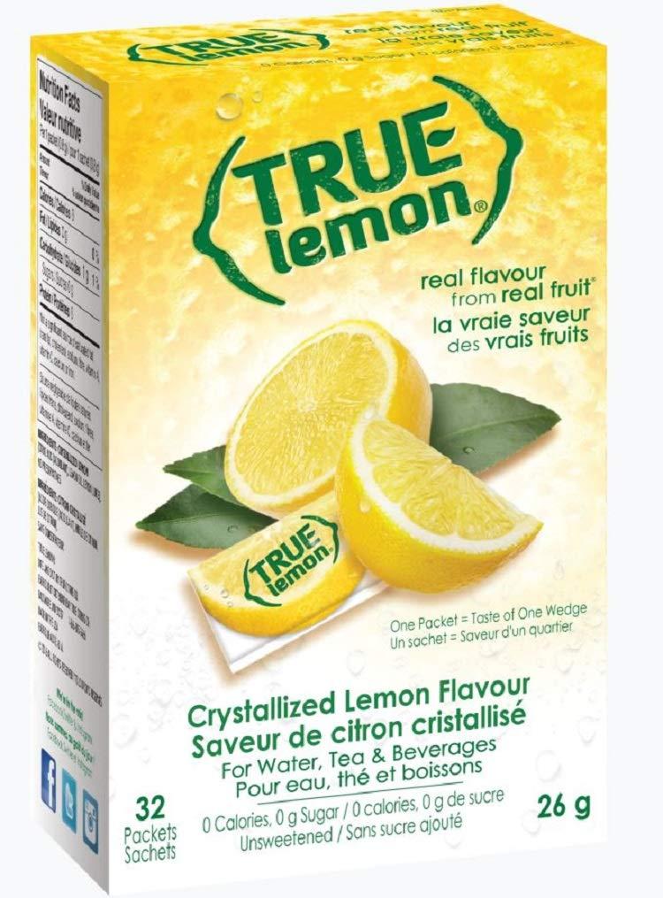 True Lemon - Crystallized Lemon For Water, Tea - Single-Serve Packets - Water Enhancer - 32-count