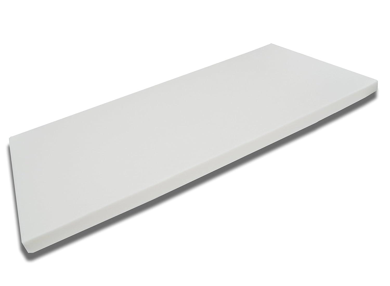 FMP Matratzenmanufaktur 42-0006,viscoelastische Matratzenauflage, Visco-Topper, weiß, 160 x 200 x 8 cm
