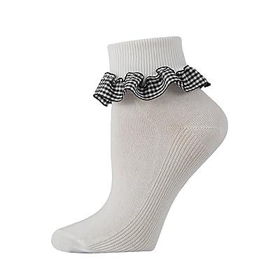 Bébé fille 3 Paires de socquettes en coton Blanc à carreaux fabriqué au  Royaume-Uni af0eebdae02