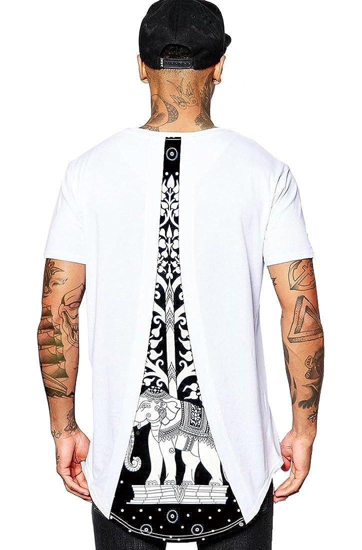 ABClothing Magliette estive Uomo 2018 Magliette Hip Hop 8 T-Shirt con Stampa Grafica