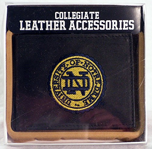 NCAA Notre Dame Fighting Irish Embroidered Leather Billfold Wallet