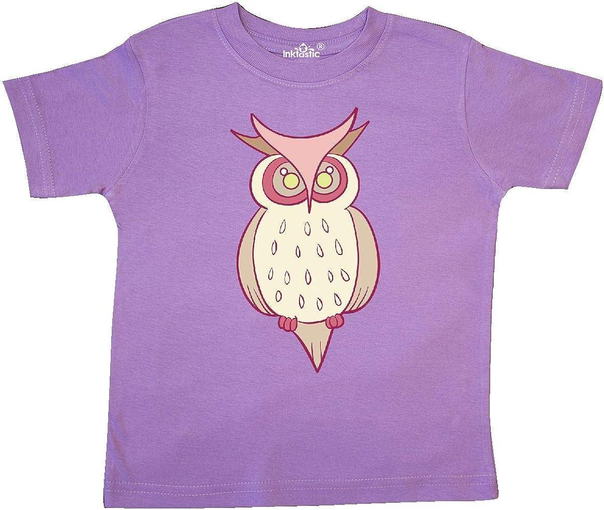inktastic Pink Owl Toddler T-Shirt