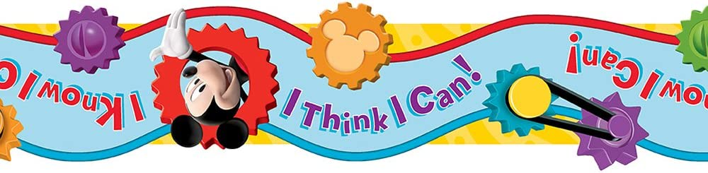 Eureka Disney Mickey Mouse Clubhouse 'I Think I Can' Bulletin Board Trim and Classroom Decoration for Teachers, 12pc, 3.25'' W x 37'' L