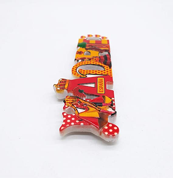 MUYU Magnet Imán para Nevera con diseño de Madrid España 3D ...
