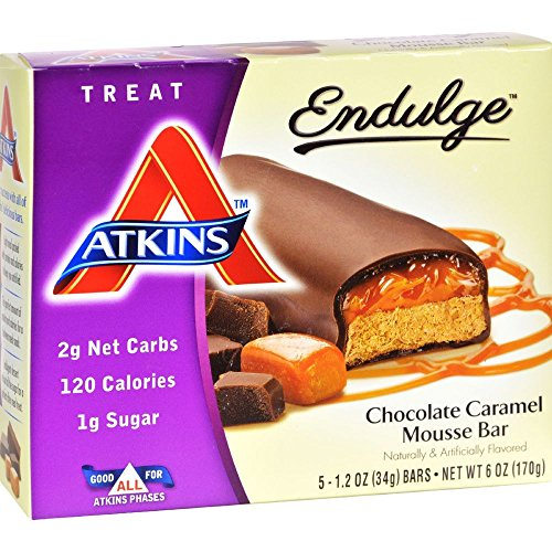 Atkins Endulge Treat Chocolate Caramel Mousse Bar, 5 Count (Pack of 6) Chocolate Mousse Bar