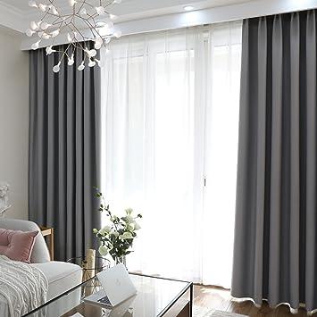 Xiaojingly Blackout Vorhange Drapieren Einfache Moderne Schlafzimmer
