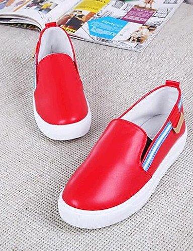 Negro cn41 ZQ Plataforma Semicuero cn41 eu40 Mocasines Zapatos Blanco uk7 us9 eu37 5 silver uk7 Plata de 7 Comfort red mujer Casual silver us6 5 us9 Exterior 5 cn37 gyht uk4 Rojo eu40 rIrgqwv