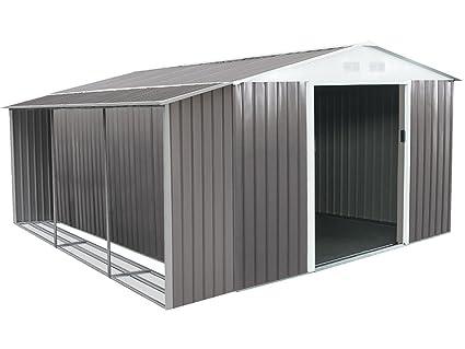Caseta de metal Dallas 12,99 m2 con leñero