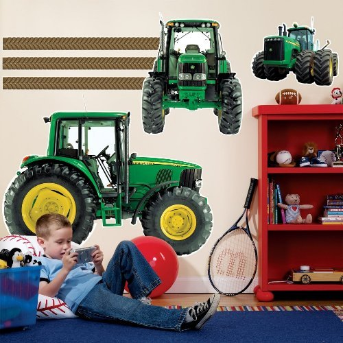 BirthdayExpress John Deere Tractor Party Supplies Decoration Giant Wall Decals