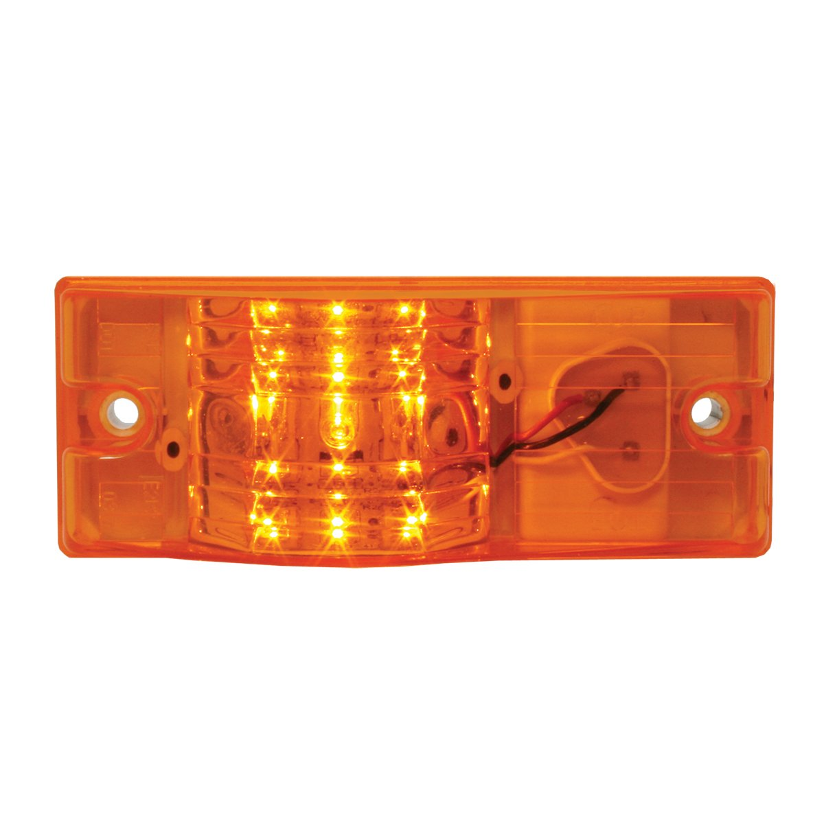GG Grand General 78608 Side Mount Amber//Clear 9-Led Marker//Turn Light with Plug