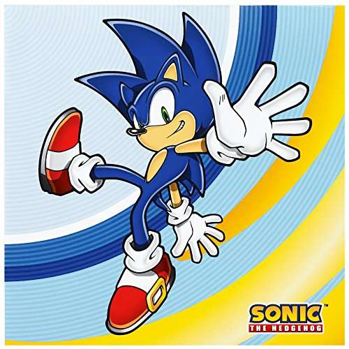 BirthdayExpress Sonic The Hedgehog Party Supplies - Lunch Napkins -