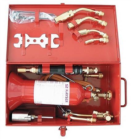 L/ötkoffer zum Eichl/öten im Stahlblechkasten mit Kleinstflasche Propan