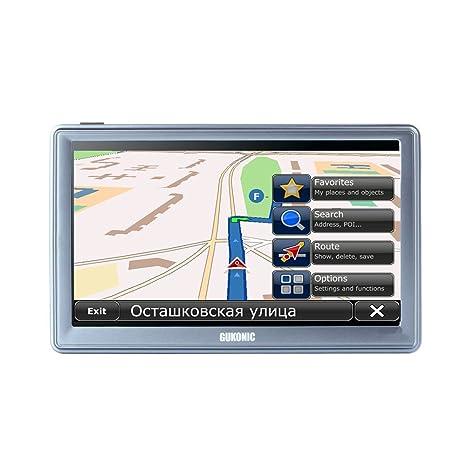 """GUKONIC 741 7"""" GPS Navigation Coche Camión Cámara de Velocidad Radar Asistencia de Carril con"""