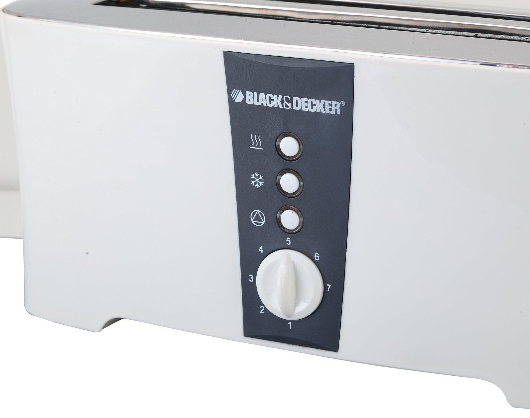 Black & Decker ET124 1350W 4-Slice Toaster (Non-USA Compliant), White by BLACK+DECKER (Image #6)