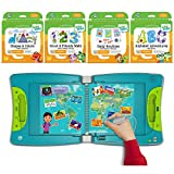 LeapFrog LeapStart Kindergarten & 1st Grade Interactive Learning System For Kids Ages 5-7 With Level 1 Preschool, Pre-Kindergarten Activity Books: Shapes, Math, Daily Routines & Alphabet Fun Bundle