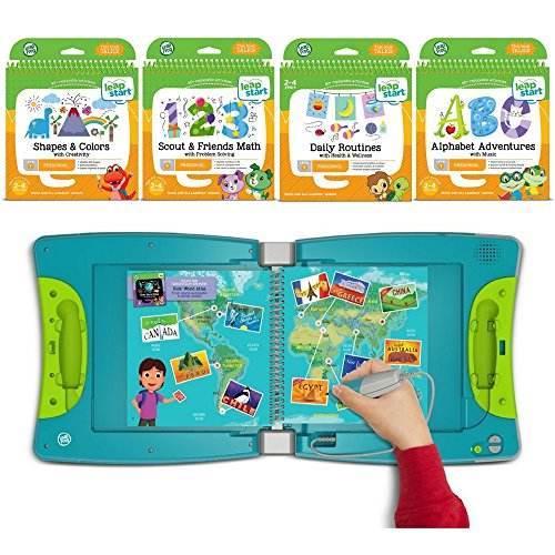 LeapFrog LeapStart Kindergarten & 1st Grade Interactive Learning System For Kids Ages 5-7 With Level 1 Preschool, Pre-Kindergarten Activity Books: Shapes, Math, Daily Routines & Alphabet Fun Bundle by LeapFrog (Image #7)