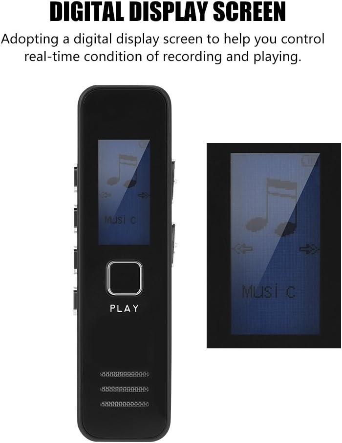 Eboxer 32 GB TF-Karte Digitaler Sprachrekorder 192kbps 20-Stunden-Aufnahme MP3 Wiedergabe des Mini-Sprachrekorders