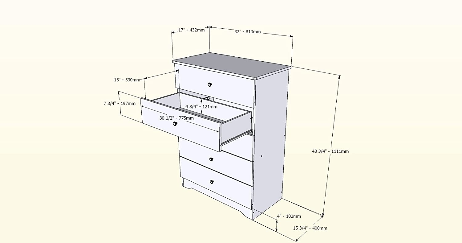 Amazon.com: Nexera Alegria 5-Drawer Pecho: Kitchen & Dining