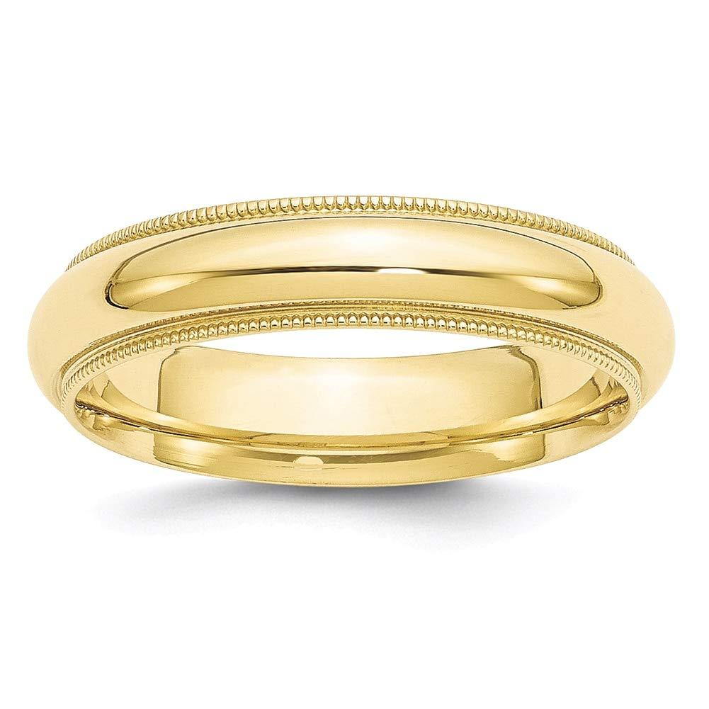 Lex /& Lu 10k Yellow Gold 5mm Milgrain Comfort Fit Band Ring