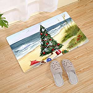 Amazon Com Fannee Christmas Tree On Seaside Doormat