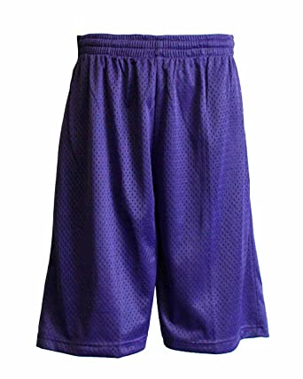 Men Purple Mesh Pocket Shorts Inner Drawstring Avail Size S-5X at ...