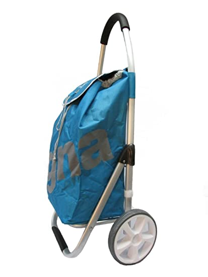 f233b5723f45 GNA Heavy Duty Aluminum Shopping Trolley, Blue