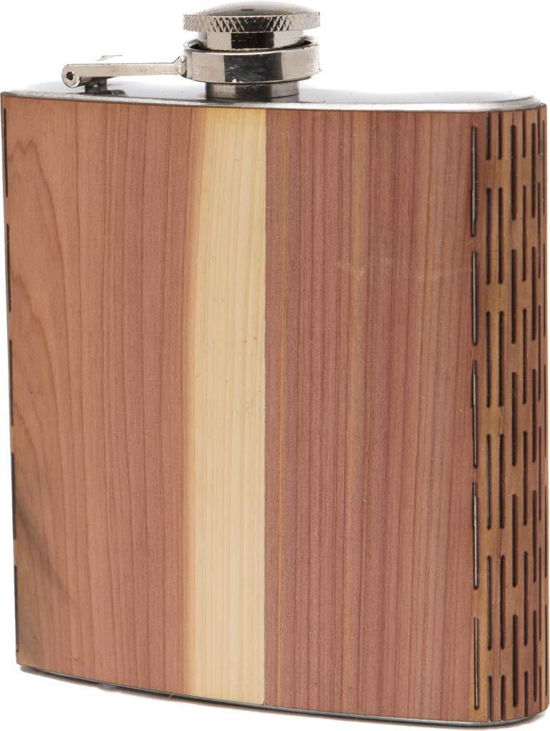 売上実績NO.1 WUDn WUDn 6 6オンス木製ヒップフラスコ – ステンレススチールボディ – 6 oz スギ B07F3NHQNY, みづの屋:6f83fd20 --- a0267596.xsph.ru