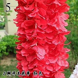FYYDNZA 1Pcs Wedding Emblem Orchid Strings Wholesale Flower Wedding Arrangement Hydrangea String Flower Wedding Decoration For Weddings,5 20