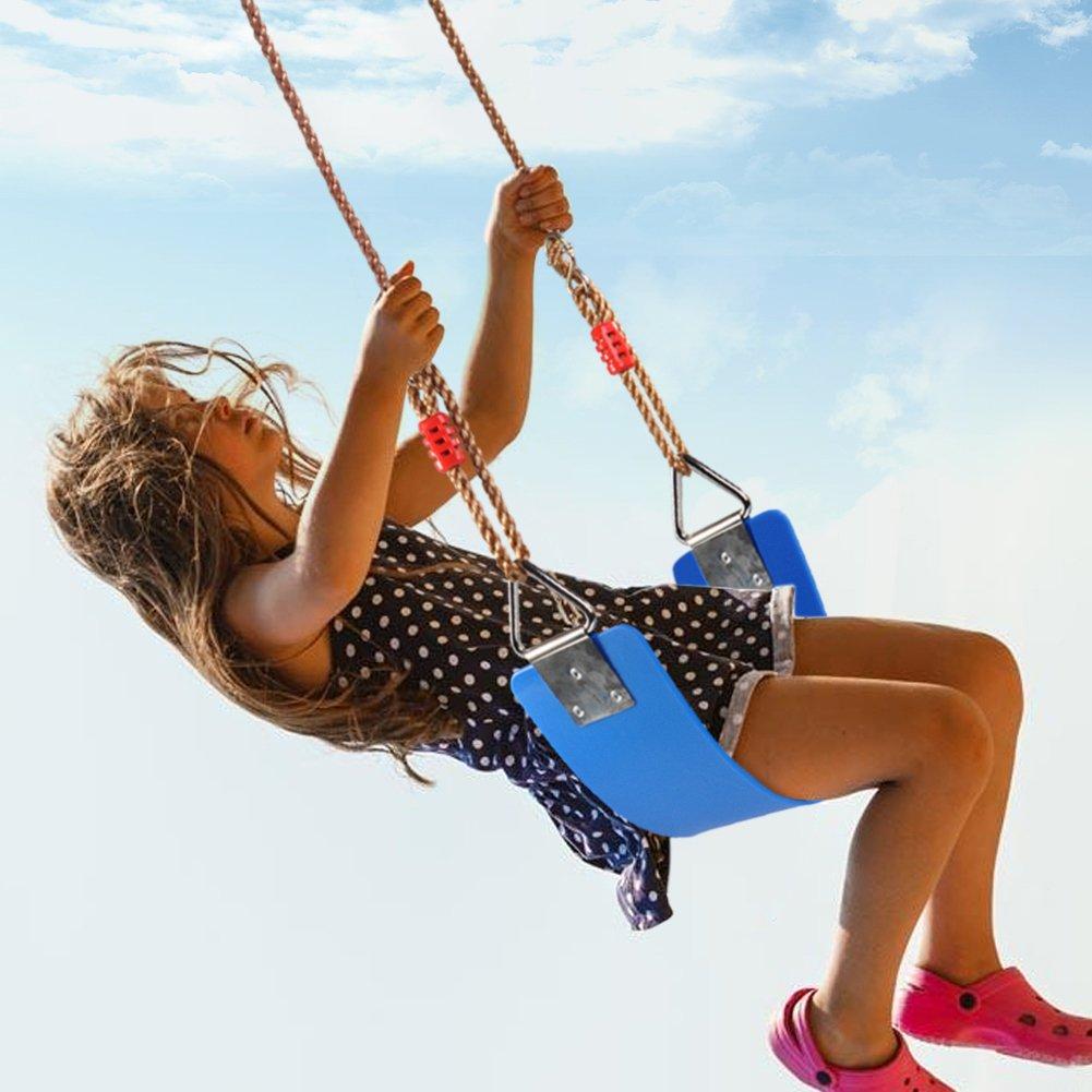 VGEBY Altalena Heavy Duty Playground Swing Seat con Corde Lunghe Regolabili con Robusto Carab per Parco Giochi allaperto