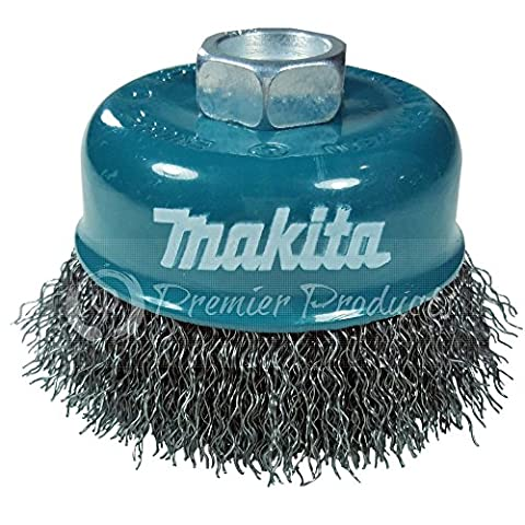 Makita 1 Piece - 3 Inch Crimped Wire Cup Brush For Grinders - Light-Duty Conditioning For Metal - 3