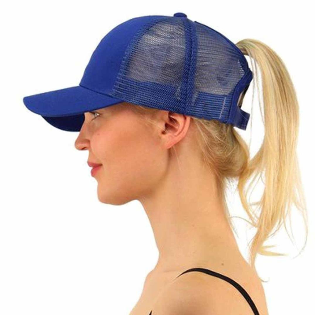 Lavany Women's Men Hats, Ponytail Baseball Caps Snapback Hip-Hop Mesh Sun Hats Shade Lavany Women' s Men Hats