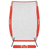 GoSports 7' x 4' I-Screen | Baseball & Softball Pitcher Protection Net | Must Have for Safe Training - Includes Foldable Bow Frame and Portable Carry Bag
