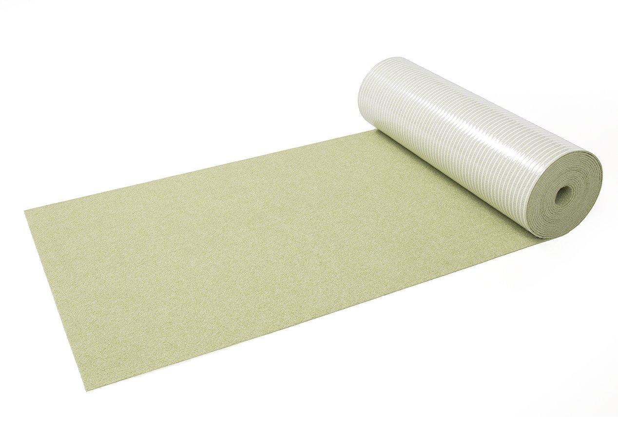 サンコー はっ水 アンモニア消臭廊下敷きマット 養生保護マット おくだけ吸着 ロングマット 60×800cm グリーン KH-72 B00P7DOBUA グリーン