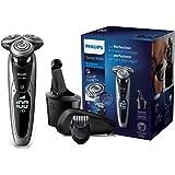 Philips Serie 9000 S9711/32 - Máquina de afeitar con cabezales de 8 direcciones, seco/húmedo, 3 modos y sistema de…