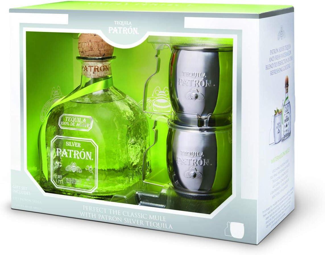 Patr�n Tequila Silver, Limited Edition con Mule Mug - Confezione regalo
