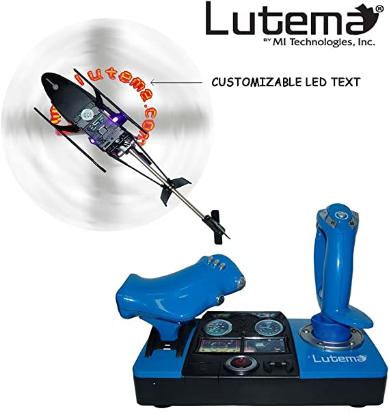 Lutema 2.4GHz Heligram Flight Simulator Remote Control Helicopter with LED SkyText Technology