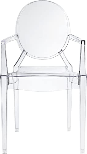 Design Tree Home Ghost Arm Chair, Clear