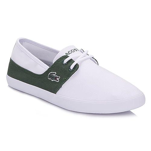 6543efa27a258 Lacoste Hombres Blanco Dark Verde Marice Cordones 116 Zapatillas   Amazon.es  Zapatos y complementos