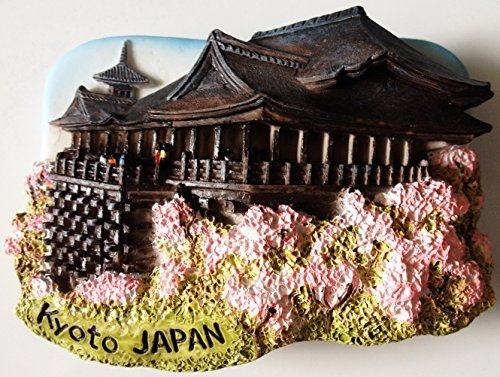 Kyoto Japan Kiyomizu-dera Water Temple Resin 3D fridge Refrigerator Thai Magnet Hand Made Craft. by Thai MCnets by Thai MCnets