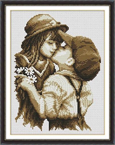 Patron para cuadro de punto cruz, diseño de pareja romantica de ...