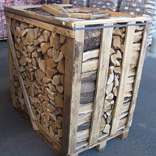 Brennholz / Kaminholz Eiche 1,5 SRM (1RM) - kammergetrocknet & ofenfertig - aus nachhaltiger deutscher Forstwirtschaft (Eiche | 25 cm Scheitlänge)