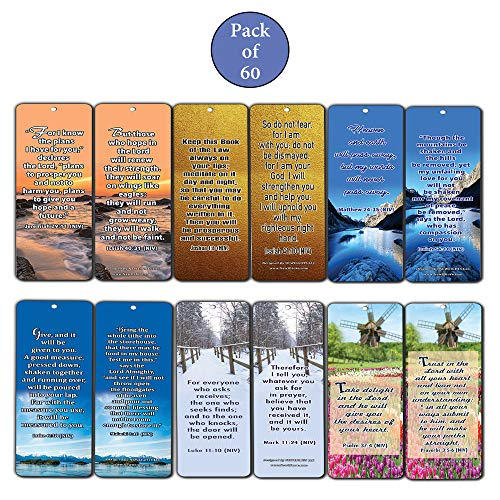 a0383a6121ba7 Amazon.com : God's Promises Bible Verses Bookmarks (60-Pack) : Office  Products