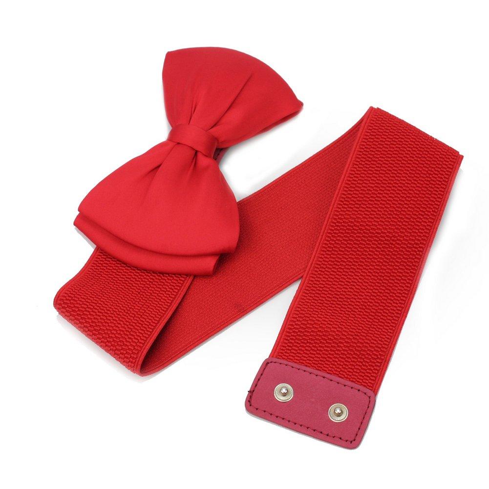 7a2907d756cd Large Élastique Stretch Ceinture Rouge Décor Nœud Papillon Cadeau De Femme  Fille  Amazon.fr  Vêtements et accessoires