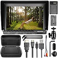 Neewer NW759 Camera Field Monitor Kit:7 inches Ultra HD 1280x800 IPS Screen Field Monitor+F550 Replacement Battery+Micro USB Battery Charger+Carrying Case Sony Canon Nikon Olympus Pentax Panasonic