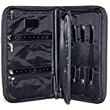 BBD Travel Jewelry Organizer Case for Security and Earrings Storage - Black
